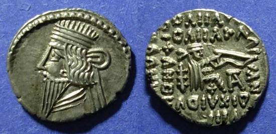Ancient Coins - Parthian Kigdom, Vologases III 105-147, Drachm