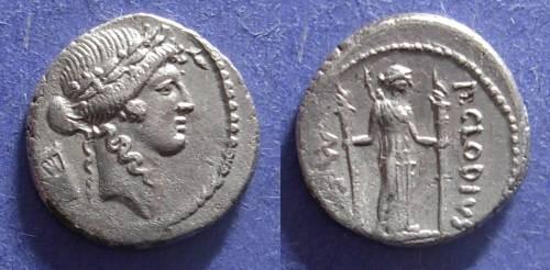 Ancient Coins - Roman Republic, P. Clodius M f Turrinus 42 BC, Denarius