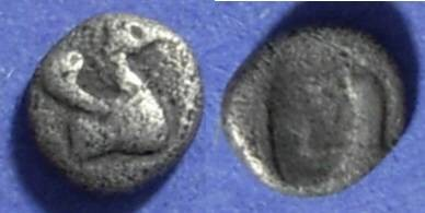 Ancient Coins - Halicarnassos, Caria Circa 450 BC, Obol
