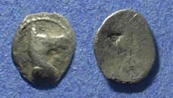 Ancient Coins - Macedonia, Mende 480-460 BC, Hemiobol