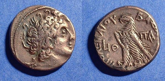Ancient Coins - Ptolemy XII Tetradrachm 80-58 BC (first reign)