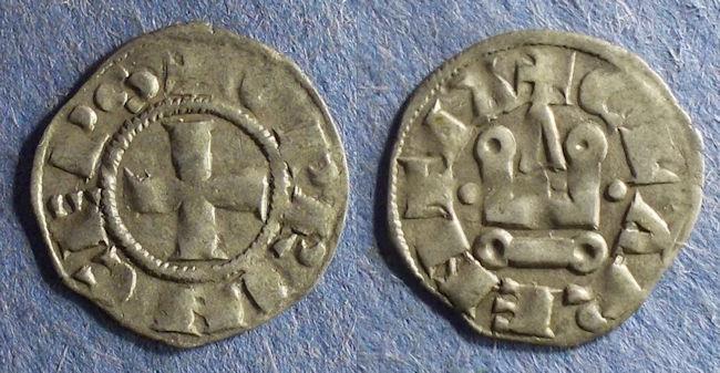 World Coins - Frankish Greece: Achaea, William de Villehardouin 1245-78, Denier