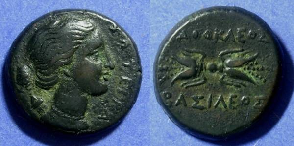 Ancient Coins - Syracuse Sicily Agathocles 317-289 BC AE22