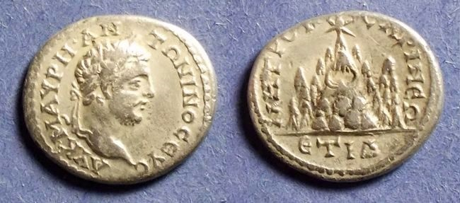 Ancient Coins - Caesarea Cappadocia, Caracalla 198-217, Drachm