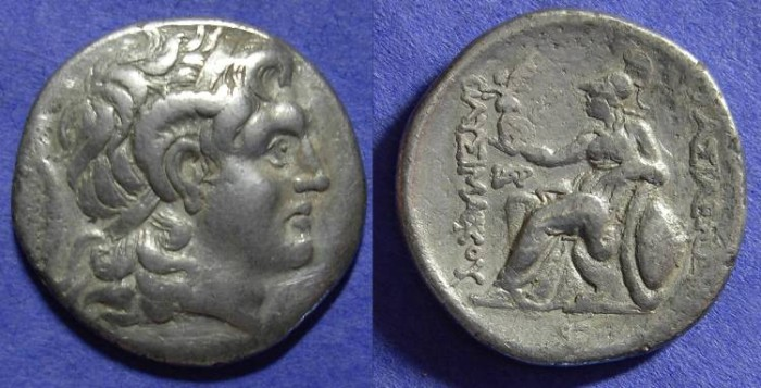 Ancient Coins - Lysimachos 323-281 BC - Tetradrachm (postumous circa 250 BC_
