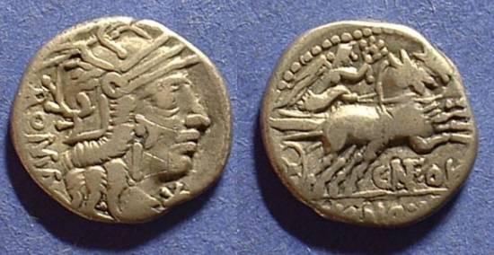 Ancient Coins - Roman Republic - Fulvia 1 Denarius Circa 101BC