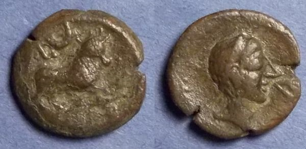 Ancient Coins - Spain, Castulo Circa 150 BC, AE18