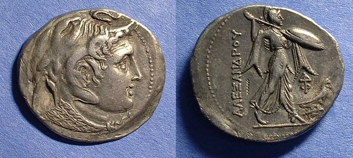 Ancient Coins - Ptolemy I (as Satrap) Circa 310-305 BC  - Tetradrachm