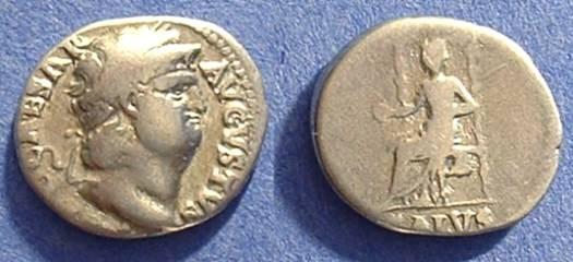 Ancient Coins - Nero 54-68AD Denarius