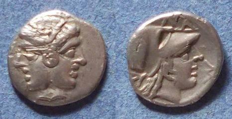 Ancient Coins - Lampsakos, Mysia Circa 350 BC, Diobol
