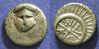 Ancient Coins - Messembria, Thrace Circa 350 BC, Diobol
