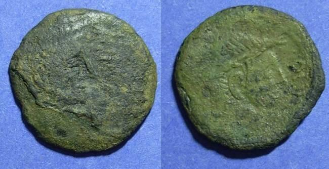 Ancient Coins - Imitative Roman, Octavian & Divus Julius Caesar Circa 25 BC, Sestertius