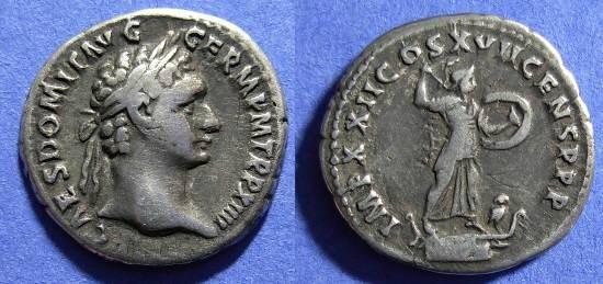 Ancient Coins - Domitian 81-96AD - Denarius