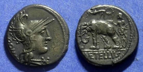 Ancient Coins - Roman Rep. C Caecilius M. Caprarius 125 BC Denarius