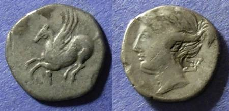 Ancient Coins - Corinth,  350-300 BC, Drachm