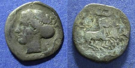 Ancient Coins - Syracuse, Sicily 413-400 BC, Hemidrachm