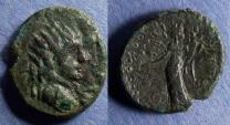 Ancient Coins - Sicily, Entella, L. Sempronius Atratinus 36 BC, Semis