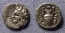 Ancient Coins - Thessaly, Lamia 400-350 BC, Obol