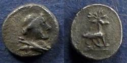 Ancient Coins - Ionia, Ephesos 250-200 BC, Obol