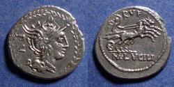 Ancient Coins - Roman Republic, Cn Lucilius Rufus 101 BC, Denarius