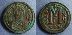 Ancient Coins - Byzantine Empire, Justinian 527-565, 39mm Follis