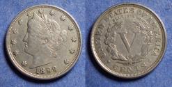 "Us Coins - United States,  1899,  Liberty ""V"" Nickel, VF30"