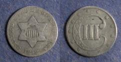 Us Coins - United States,  1852, Three Cent