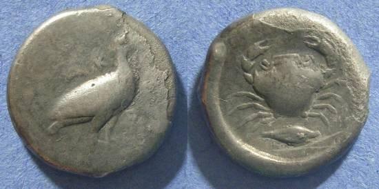 Ancient Coins - Akragas, Sicily 482-472 BC, Didrachm