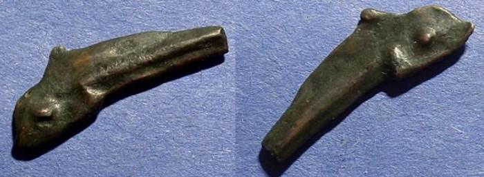 Ancient Coins - Olbia Sarmatia - AE Dolphin 5th Century BC