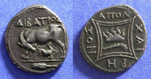 Ancient Coins - Apollonia Illyria - Drachm Circa 200 BC - Rare reverse type & Choice!