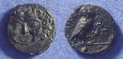 Ancient Coins - Kamarina Sicily - AE Onkia 425-405BC