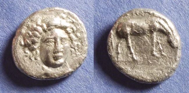 Ancient Coins - Thessaly, Larissa 400-344 BC, Drachm