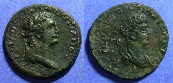 Ancient Coins - Epiphanea Cilicia, Domitian & Domitia 81-96 AD, AE26