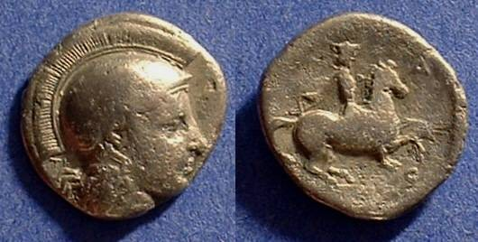 Ancient Coins - Pharsalos Thessaly - Drachm Circa 375 BC