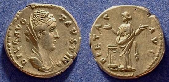 Ancient Coins - Faustina Sr d.141AD Denarius