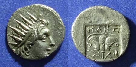 Ancient Coins - Rhodes, Maes - magistrate Circa 88 BC, Drachm
