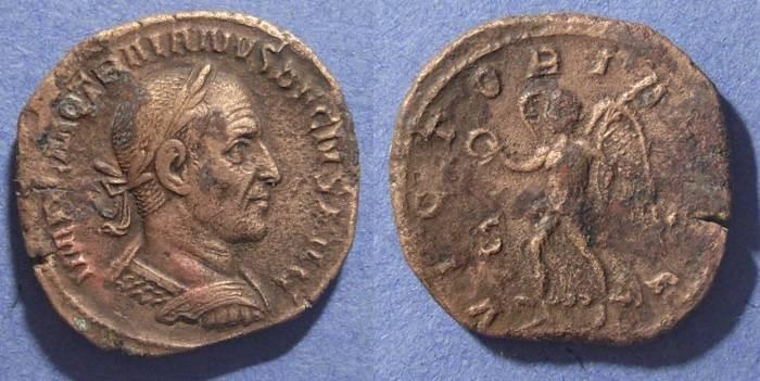 Ancient Coins - Roman Empire, Trajan Decius 249-251 AD, Sestertius
