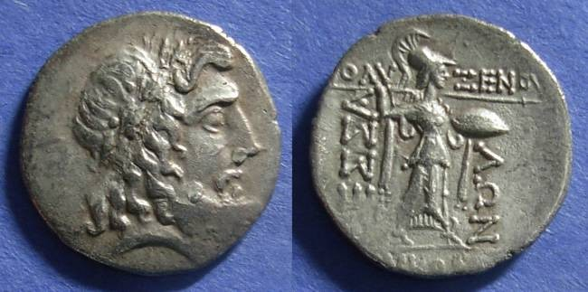 Ancient Coins - Thessalian League,  45-40 BC, Stater ( Double Victoriatus )