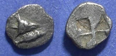 Ancient Coins - Kyzicus, Mysia 600-550 BC, Hemiobol
