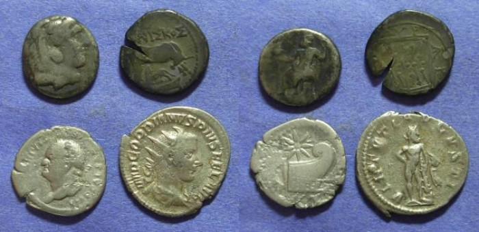Ancient Coins - Four ancient silver coins
