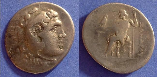 Ancient Coins - Macedonian Kingdom - Alexander III (the great) Tetradrachm  Circa 200 BC