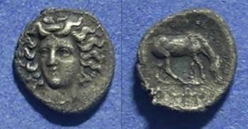 Ancient Coins - Thessaly, Larissa 344-337 BC, Obol
