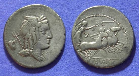 Ancient Coins - Roman Republic – Julia 5 Denarius 85 BC