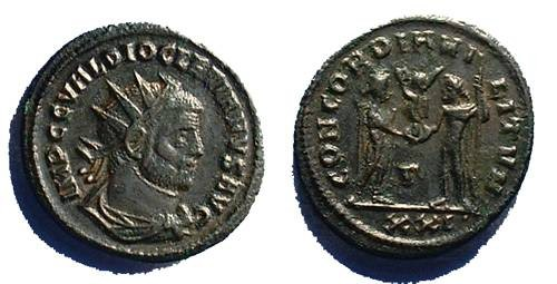 Ancient Coins - Diocletian 284-305, Pre 296 Antoninianus