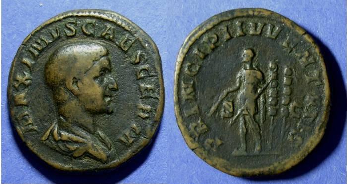 Ancient Coins - Roman Empire, Maximus - Caesar 235-238, Sestertius