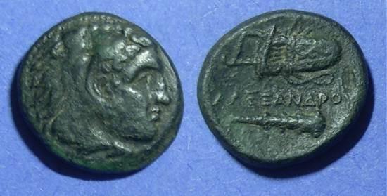 Ancient Coins - Macedonian Kingdom, Alexander III 323-319 BC, AE18