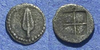 Ancient Coins - Macedonia, Uncertain mint Circa 450 BC, Hemiobol