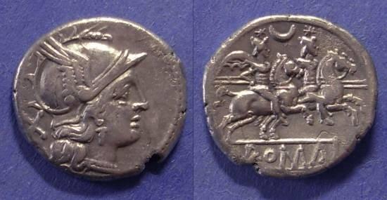 Ancient Coins - Roman Republic, Anonymous 194-190 BC, Denarius