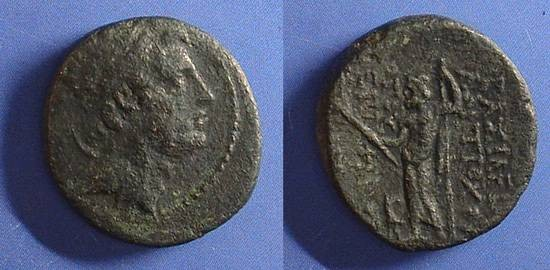 Ancient Coins - Seleucid Kingdom - Antiochos IV 175-164 BC AE-19