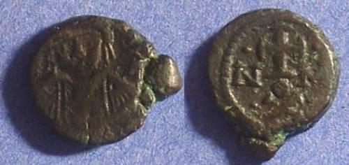 Ancient Coins - Maurice Tiberius 582-602 - Decanummium - Carthage mint